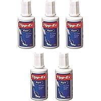 TIPP-EX Lot de 5 Correcteurs liquide Rapid Foam blanc Flacon 20 ml