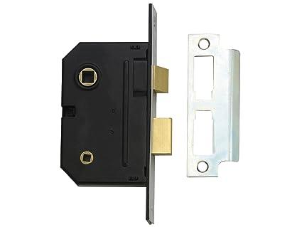 Yale Locks PM236CH25 - Cerradura encastrable para baño (2 puntos, 6,7 cm