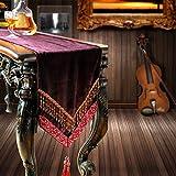 European table runner,Flag flag coffee table,Coffee table cloth,Fashion fabric rhea table runner-A 35x240cm(14x94inch)