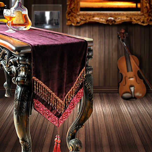 European table runner,Flag flag coffee table,Coffee table cloth,Fashion fabric rhea table runner-A 35x240cm(14x94inch) by MML ZB