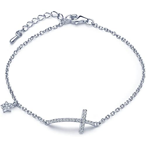 Infinite U Lovely Elephant Beads Womens Charm Bracelet 925 Sterling Silver Adjustable Hand Link Chain Extension, Silver
