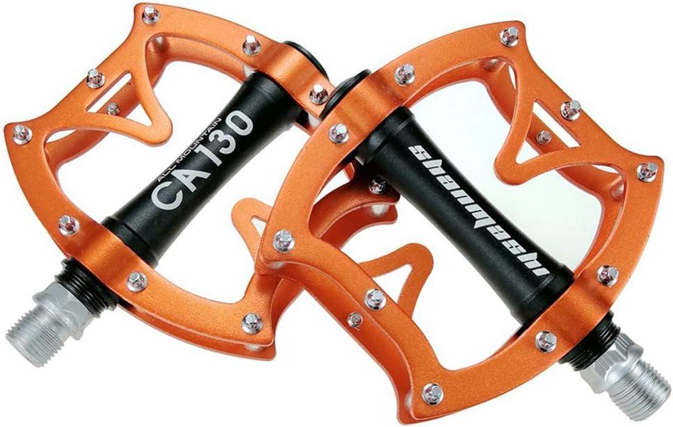 Cmpedals Pedales de Bicicleta de montaña, Cuerpo de Aluminio mecanizado por CNC, husillo roscado de 9/16