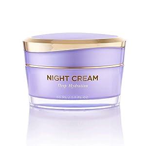 Overnight Miracle Glow Night Cream - Anti-Aging Retinol, Moisturizing Hyaluronic Acid, Jojoba Oil & Squalane Help Hyperpigmentation, Oil and Acne-Prone Skin. Vegan And Clean Skin Care.