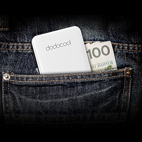 dodocool 5000 mAh vitality Bank 2 Port extra sleek Portbale vitality with the help of Micro USB Cable and Lightning Cable for iPhone X 8 Plus 8 7 Plus 7 iPhone SE Samsung and a lot more MFI Certified External Battery Packs