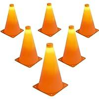 "GoSports LED Light Up Sports Cones (6 Pack), 9"" (CONE-LED-9-6)"