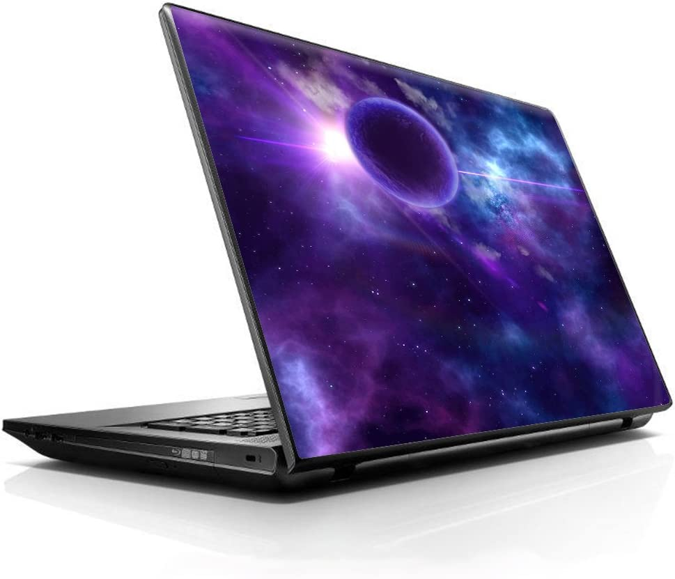 """15 15.6 inch Laptop Notebook Skin vinyl Sticker Cover Decal Fits 13.3"""" 14"""" 15.6"""" 16"""" HP Lenovo Apple Mac Dell Compaq Asus Acer / Purple Moon Galaxy"""