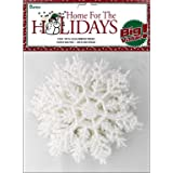 """30 White Snowflakes with Pearlized Glitter. Each Snowflake Measures 4""""!"""