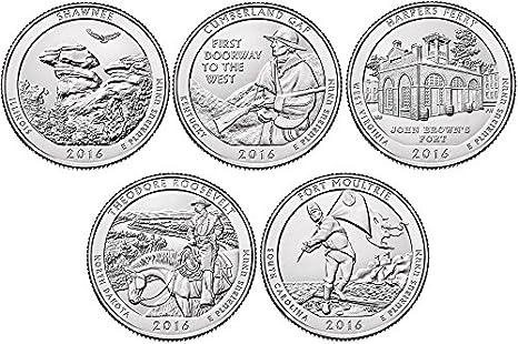 2016 P 10 coin Set Uncirculated D BU National Parks Quarters