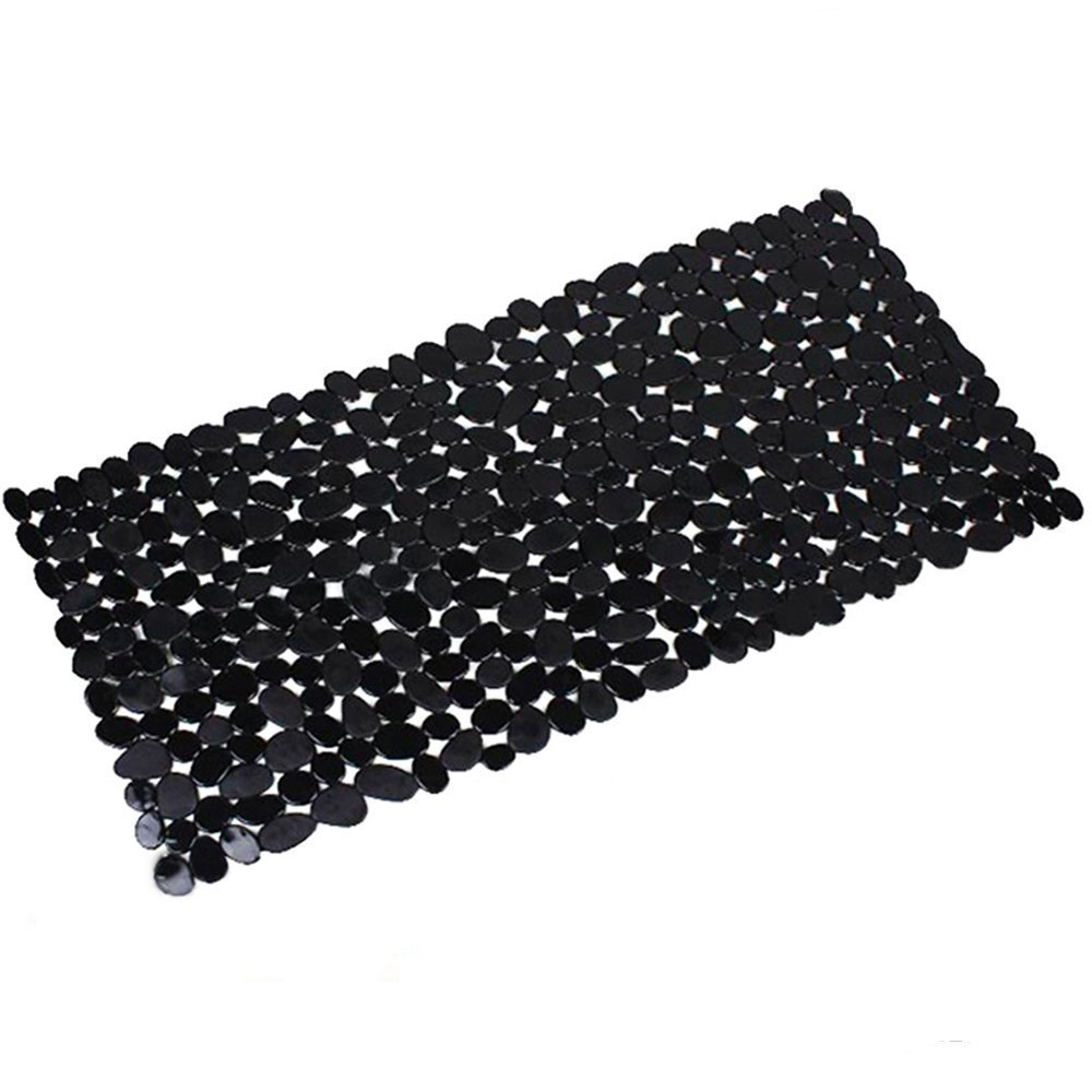 Bath Mats Anti-Slip Shower Mat Anti-Bacterial Pebble Style Bathtub Mat with Powerful Suction Cup Machine Washable Difor U