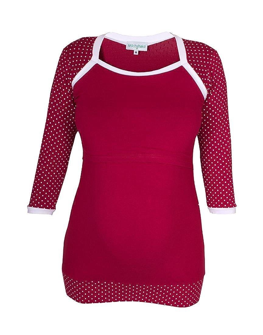 Milchshake Süßes Umstands- Stillshirt - 3 4el Arm -Winona- Bordeaux - Größe  XL  Amazon.de  Bekleidung 3003b8d32d
