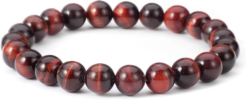 6 MM Bracciale occhio di tigre rosso Pietra preziosa Perline Energia cristallo Uomo Donna Bracciale elastico Regalo gioielli