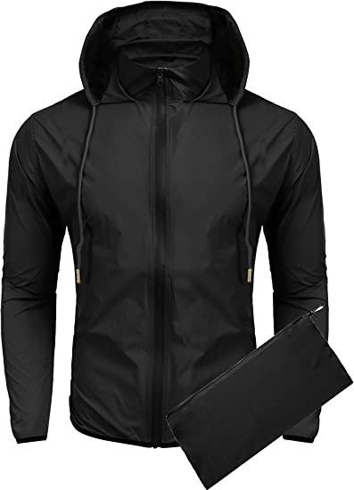 Womens Mens Rain Coat Jogging Hiking Waterproof Windproof Lightweight FREE SHIP
