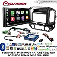 Volunteer Audio Pioneer AVH-2440NEX Double Din Radio Install Kit with Apple CarPlay, Android Auto and Bluetooth Fits 2015-2017 Chevrolet Colorado, GMC Canyon