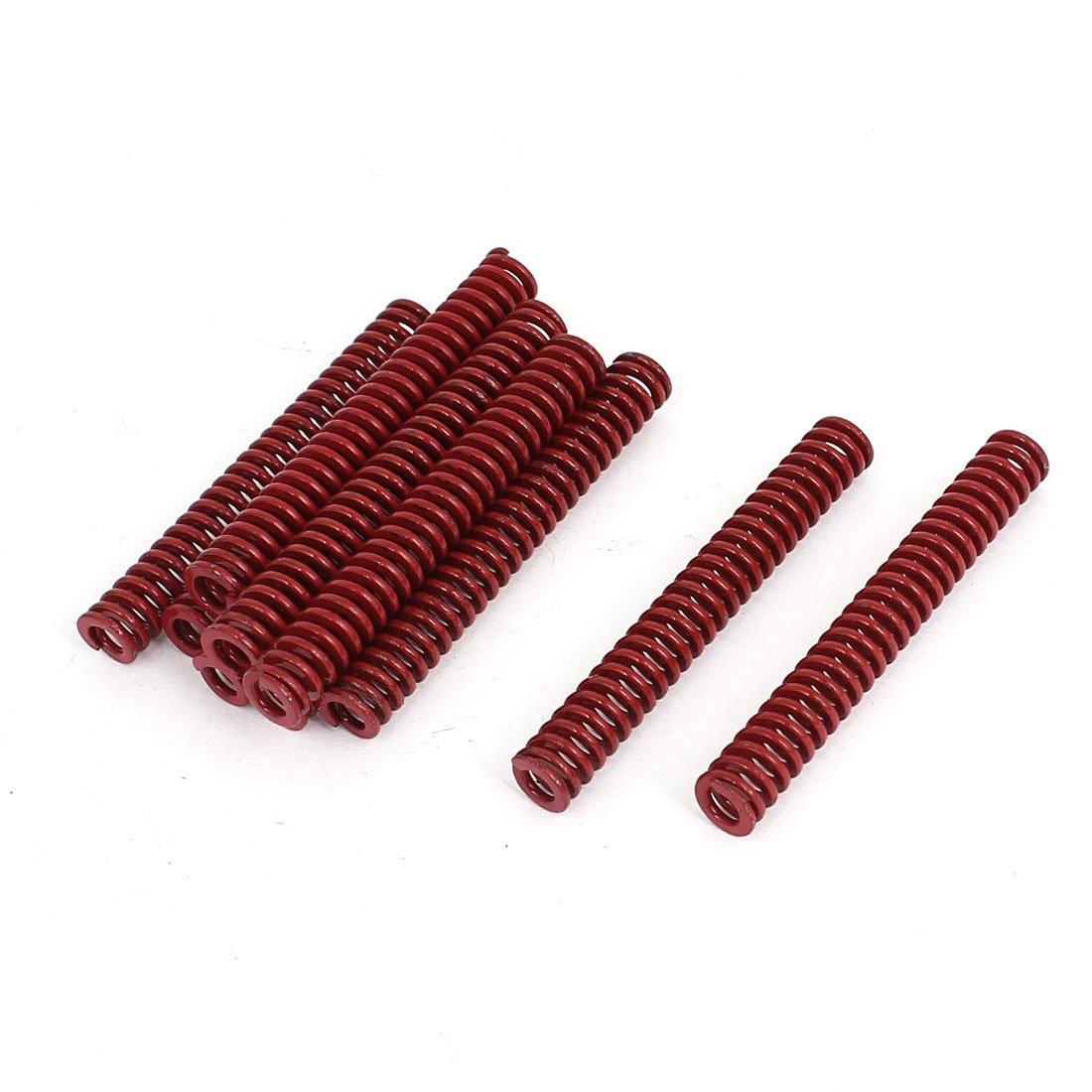8mm OD 60mm Long Medium Load Compression Mould Die Spring Red 10pcs DealMux DLM-B013U2WCEQ