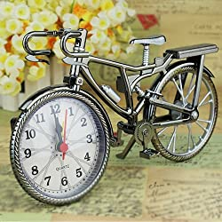 GUANGS GuanGsskuo Vintage Arabic Numeral Bicycle Shape Creative Table Alarm Clock Home Decor