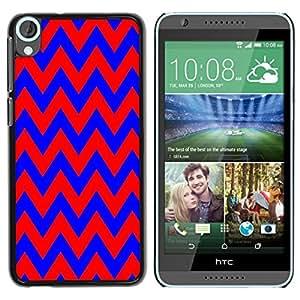 Dragon Case - FOR HTC Desire 820 - Blue and red big waves - Caja protectora de pl??stico duro de la cubierta Dise?¡Ào Slim Fit