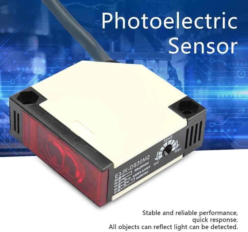 Style:E3JK-DS30M2 Interruptor del Sensor fotoel/éctrico Wocume Sensor de reflexi/ón especular