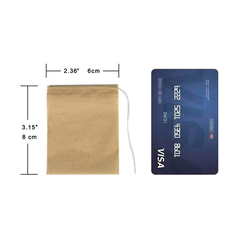 NEPAK 600PCS Sachets de Th/é Filtre Sachet de Th/é Vide en Non-Tiss/é Jetable Multiusage D/éfilage Filtre /à Th/é Taille de 6cm*8cm