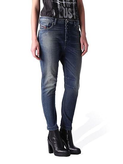 364d1477 Diesel Eazee 0666P Stretch Women's Jeans Trousers Boyfriend (W24/L30, Blue)