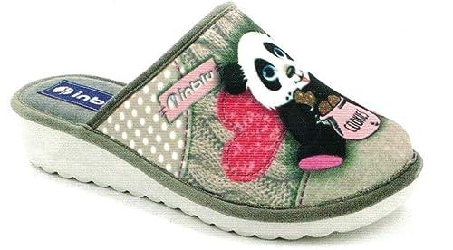Inblu - Zapatillas de Estar por casa de Tela para Mujer Beige TóRTOLA 36 EU: Amazon.es: Zapatos y complementos