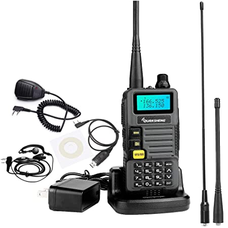 BaoFeng BF-888S 2 Way Radio with 4 1500mah Batteries and Earpiece Long Range Baofeng Walkie Talkie Two Way Radio 2 Pack One USB Programming Cable