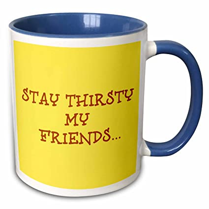 Amazoncom 3drose Xander Funny Quotes Stay Thirsty My Friends