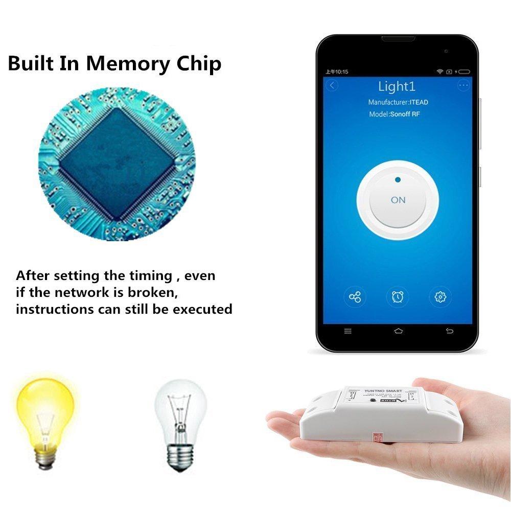 2 Stück Sonoff WiFi Wireless Fernbedienung Smart Switch, Teepao ...
