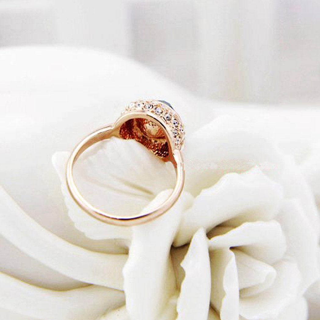 ITALIANA 18K Rose Gold Plated 2.15 Cut Cubic Zirconia Solitaire Daily Wedding Engagement Rings