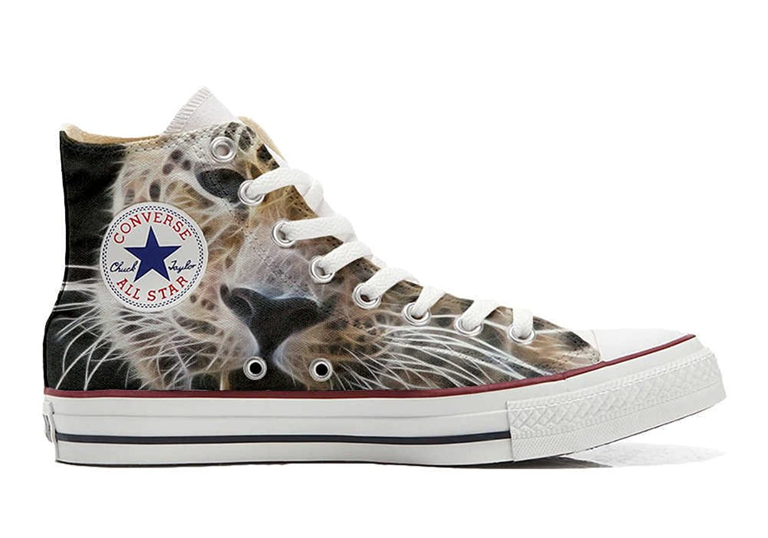 Converse All Star personalisierte Schuhe - HANDMADE SHOES - Tiger Style  43 EU