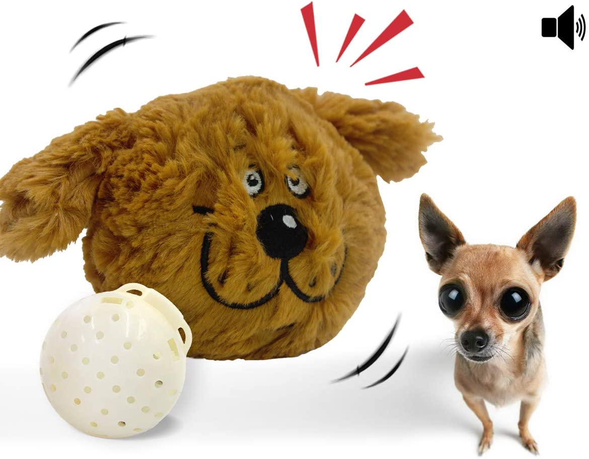 Syfinee Dog Ball Toys Jumping Activation Ball for Dogs Durable Reusable Cute for Dogs Funny Toys