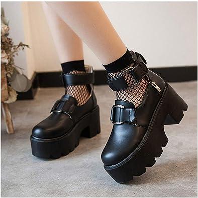 Weyi Ui Leather Platform Shoes Women