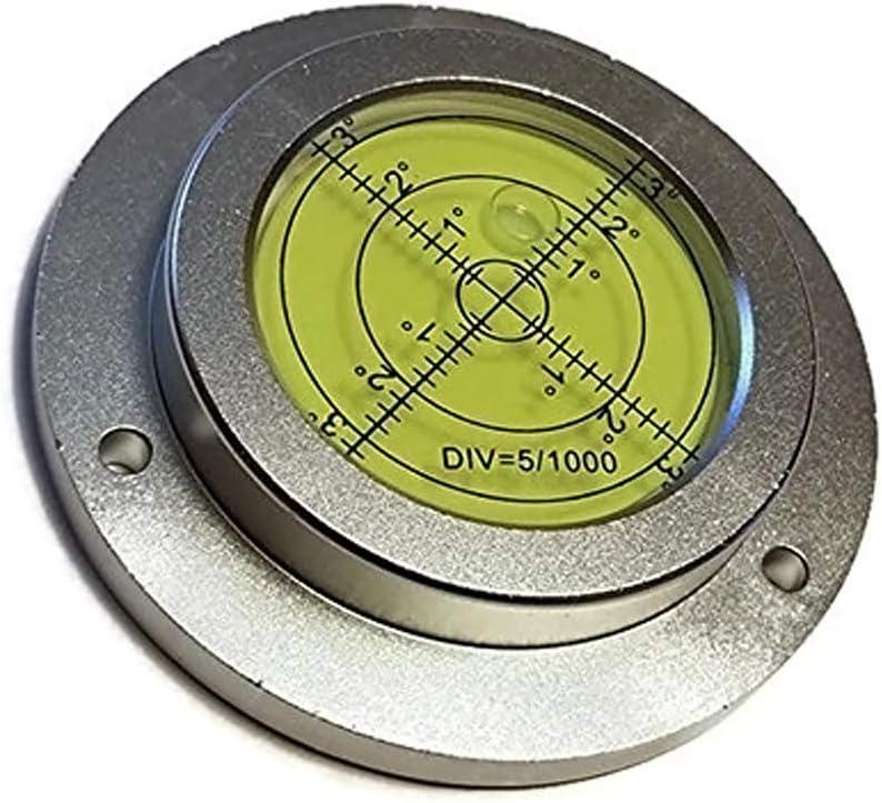 Preamer - Nivel de burbuja de aluminio de alta precisión de 4 pulgadas con agujero de montaje para el controlador de grúa