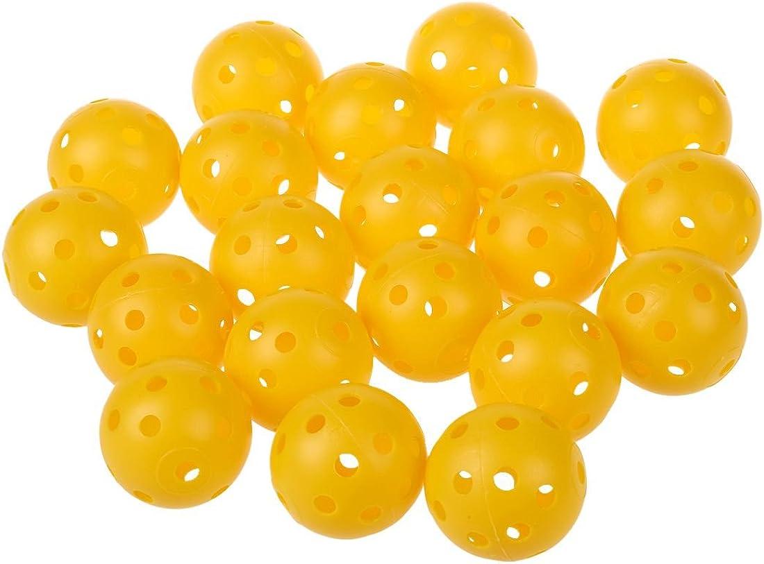SODIAL(R) 20 x Bola de entrenamiento de practica de tenis de golf hueco perforado plastico