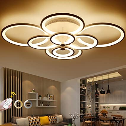reputable site 24949 b940f Remote Control Living Room Bedroom Modern LED Ceiling Lights ...