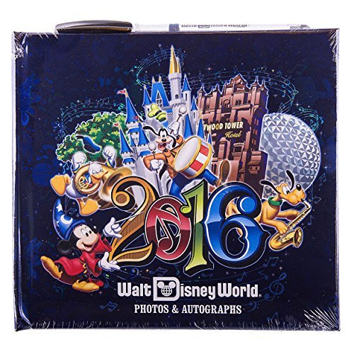 (Walt Disney World Parks 2016 Photo Autograph Book with Pen NEW Music Magic Memories by Disney)