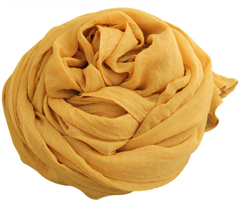 Warmword 78'' 64'' Oversized Solid Cotton&Linen Scarfs Wraps Women 16 Colors (07)