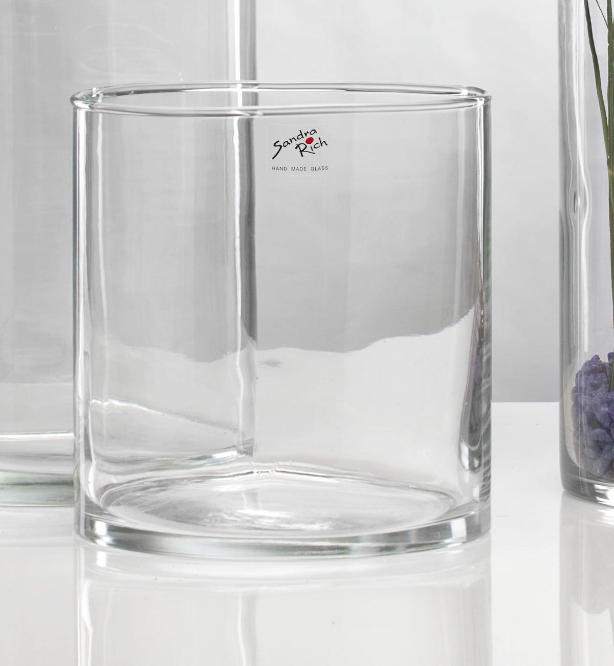 20cm D 6er SET Reagenzglas Glasvasen SOLIFLEUR mit Fuss H 3cm Sandra Rich