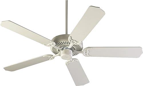 Quorum International 77525-8 Capri I 52-Inch Ceiling Fan, Studio White Finish with Studio White Blades