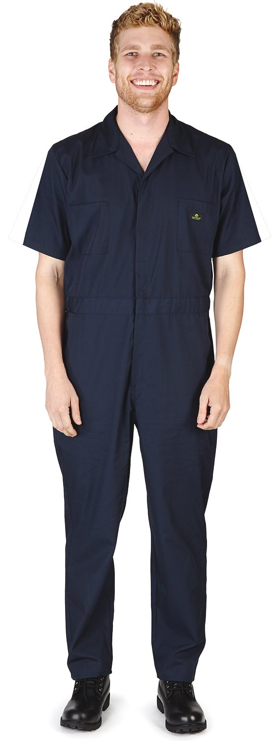 Natural Workwear - Mens Short Sleeve Coverall, Navy 38096-Medium