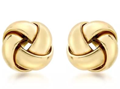 9ct Gold Knot Stud earrings Gift Boxed