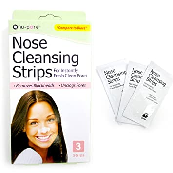 15 Nu-Pore Deep Cleansing Nose Strips Blackhead Removal Pore Fresh Clean Cleaner Vegan Vegetarian Skin Care Cleanser by SW Basics - All Natural Skincare - Organic Ingredients