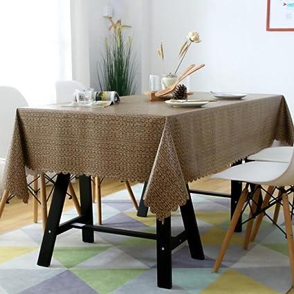 Amazon.com & Amazon.com: Zzaini Vintage Lace Table Cover PVC Waterproof Wrinkle ...