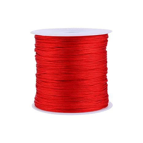 20 Colors 100M x 0.8mm Rattail Satin Nylon Trim Cord Chinese Knot for Necklace Bracelet Beading