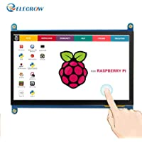 ELECROW Monitor wyświetlacz IPS ekran 7 cali 1024 x 600 HD TFT LCD z ekranem dotykowym do malinowych Raspberry Pi B…