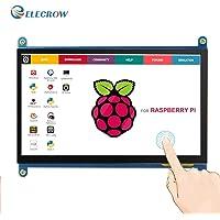Elecrow 5 Zoll Kapazitiver HDMI Touchscreen Display 800x480 TFT LCD Monitor Schnittstelle unterstützt Raspberry Pi 1/2/3 Modell B A + B + BB Schwarz, Banana Pi Windows 10 8 7