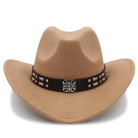Wangc Panadero Sombrero Cool Western Cowboy Sombreros Hombres Visera Gorra  Mujeres viajan Western Hat Chapeu Cowboy 486bb51b216