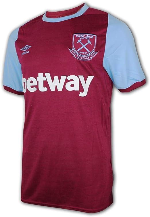 Amazon Com Umbro 2020 2021 West Ham Home Football Soccer T Shirt Jersey Clothing