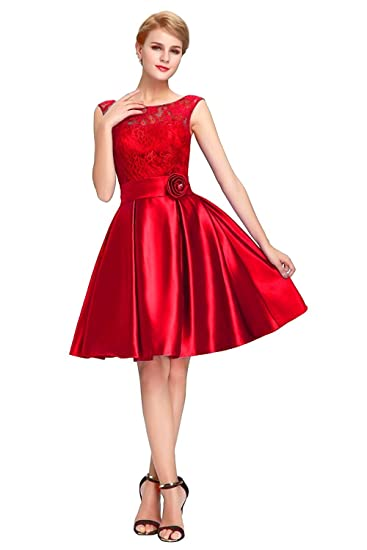 1899aad0d898 Angel f Studio Fit   Flare Readymade Red Western Dress  Amazon.in  Clothing    Accessories