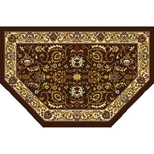 Home Dynamix HD998-511 Royalty Collection Hearth Area Rugs, 23-Inch, Brown/Ivory