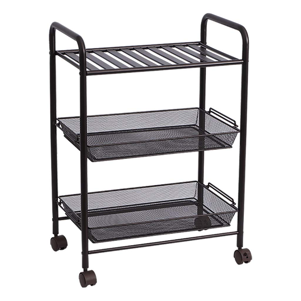 Shelf Small cart Landing Multi-Layer Pulley it can Move Kitchen Shelf Storage Shelf